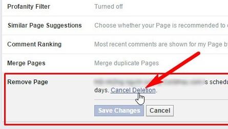 Cách khôi phục Fanpage Facebook đã bị xóa