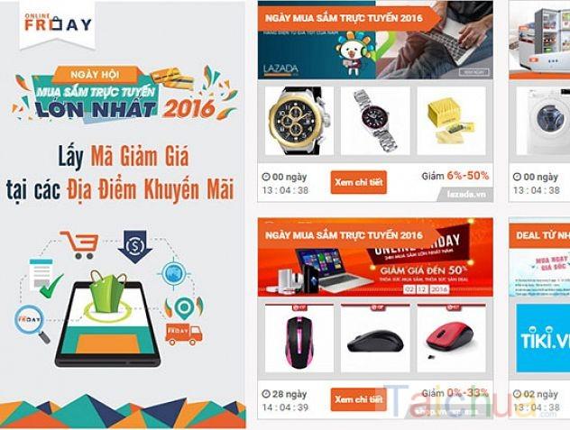 Lễ hội mua sắm online Online Friday 2016 thu hút hàng triệu lượt truy cập