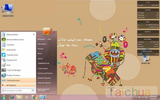 Hướng dẫn cách cài đặt Theme Windows 7 cho máy tính