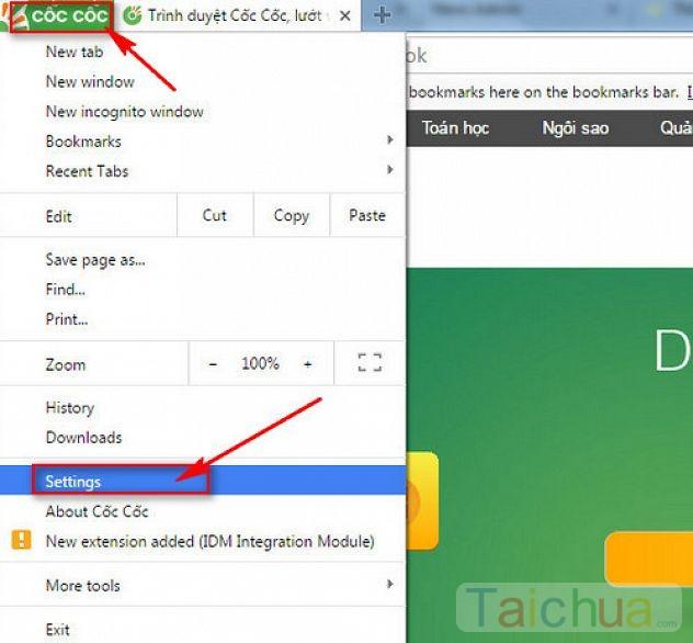 Hướng dẫn đặt Google làm trang chủ cho Cốc Cốc