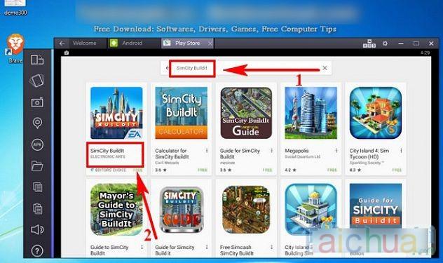 Hướng dẫn tải SimCity BuildIt trên máy tính bằng BlueStacks