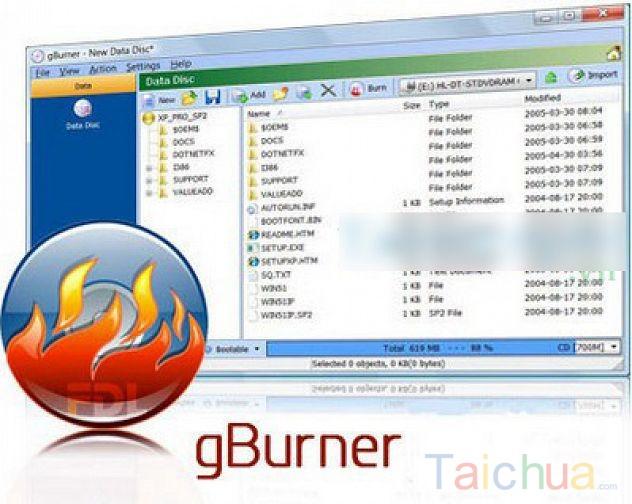 Học cách chuyển CUE/BIN sang files ISO bằng gBurner