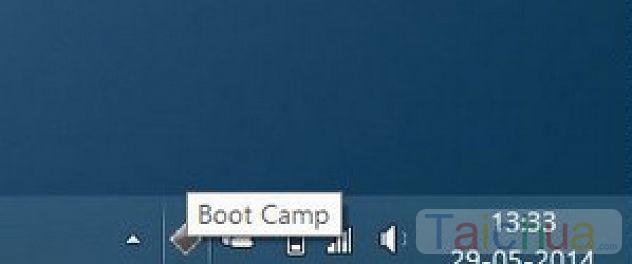 Cách lấy lại biểu tượng Boot Camp trên thanh Taskbar