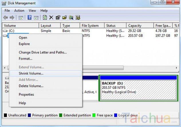Hướng dẫn phân vùng ổ cứng trên Windows 7 dễ dàng nhất