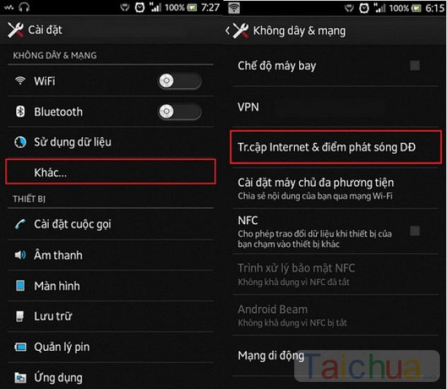Cách phát wifi từ điện thoại iPhone, Android qua laptop