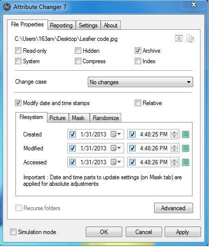 Cách Thức Thay Đổi Thuộc Tính Của File, Tập Tin