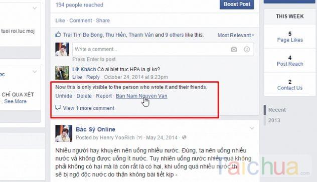 Cách chặn và bỏ chặn comment lên Fanpage Facebook