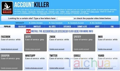 Hướng dẫn xóa nhiều tài khoản trực tuyến bằng AccountKiller