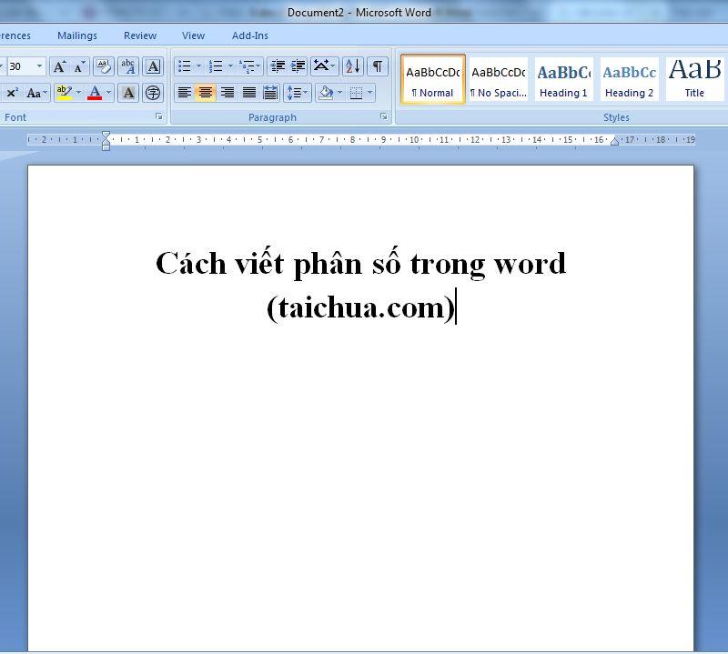 Cách viết phân số trong word nhanh nhất