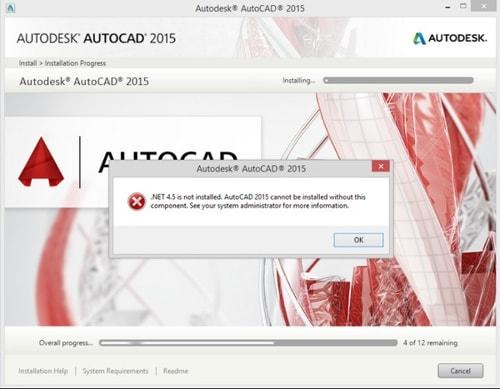 Sửa lỗi Net Framework 4.5 khi cài AutoCAD