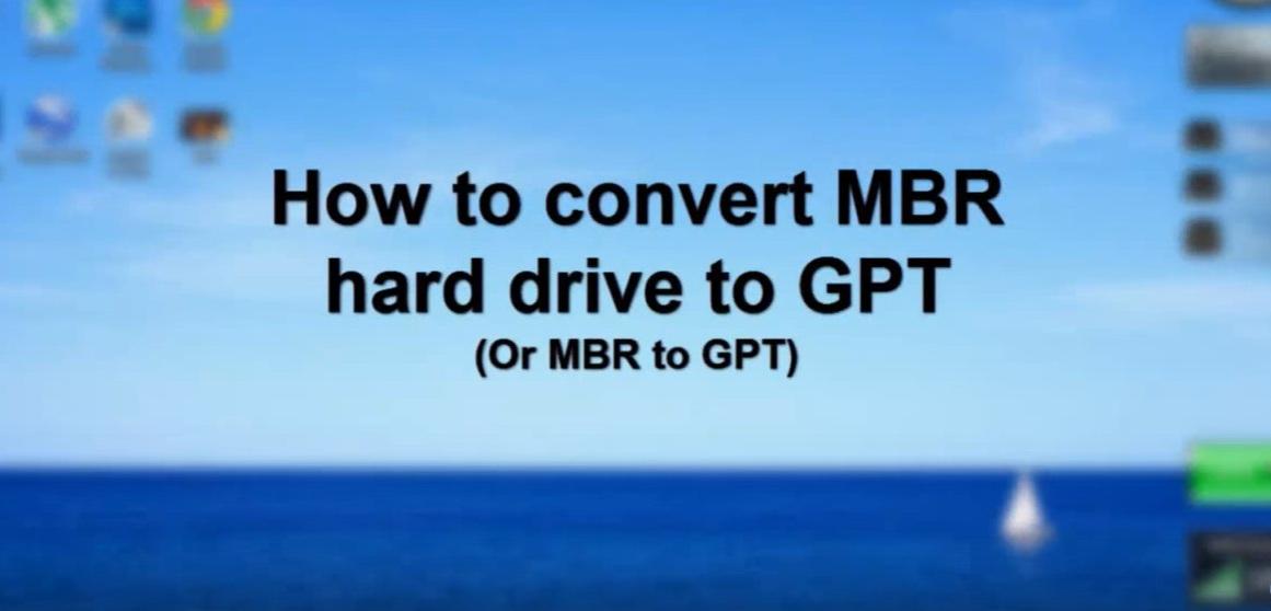 Chuyển mbr sang gpt không mất dữ liệu trên ổ cứng