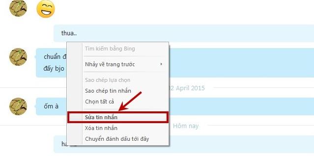 Hướng dẫn cách sửa tin nhắn đã gửi trong Skype
