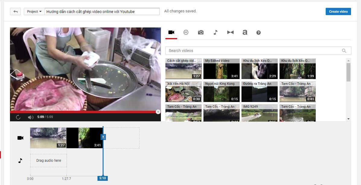 Cách cắt ghép video trên Youtube đơn giản nhất