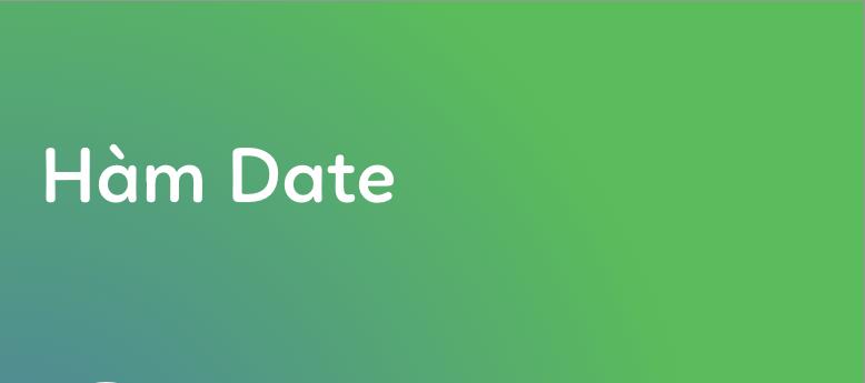 Cách dùng hàm DATE trong Excel để trả về kết quả ngày tháng năm