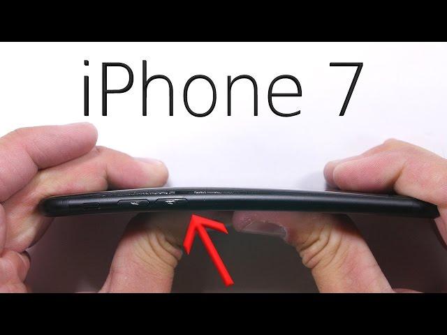 iPhone 7 thử độ bền màn hình, lưng, nút home, kính camera, bẻ cong