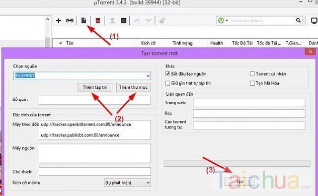 Hướng dẫn downLoad File bằng uTorrent