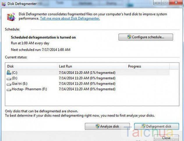 Danh sách những phần mềm chống phân mảnh ổ cứng tốt nhất hiện nay