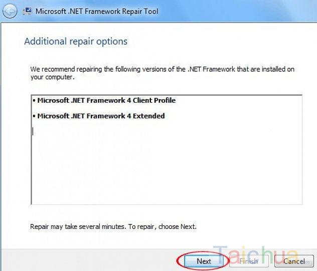 Công cụ sửa lỗi và xóa bỏ Microsoft .NET Framework