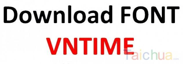 Hướng dẫn cách cài đặt font VnTime trên máy tính