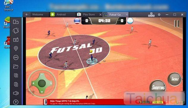Hướng dẫn chơi Futsal trên máy tính bằng BlueStacks
