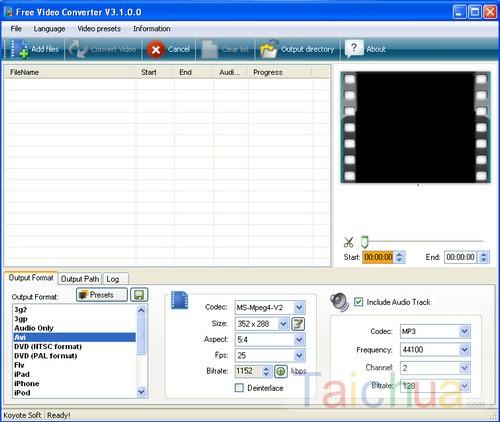 Hướng dẫn đổi đuôi video bằng phần mềm Free Video ConVerter