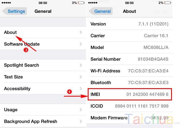 Những cách check IMEI IPHONE nhanh chóng