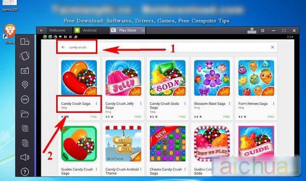 Hướng dẫn chơi Candy Crush Saga trên máy tính bằng BlueStacks