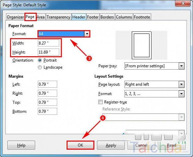 Hướng dẫn cách chọn kích thước khổ giấy trong LibreOffice