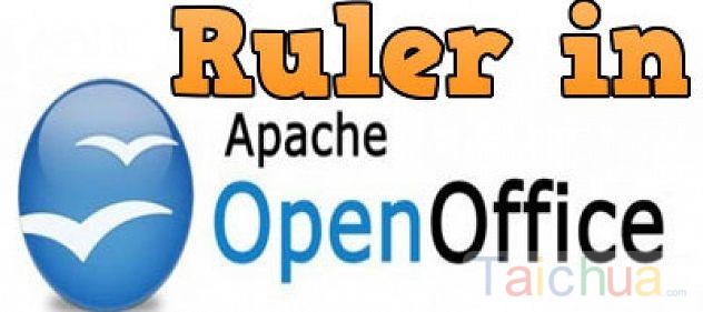 Hiển thị Ruler, thanh thước kẻ căn chỉnh lề trong OpenOffice