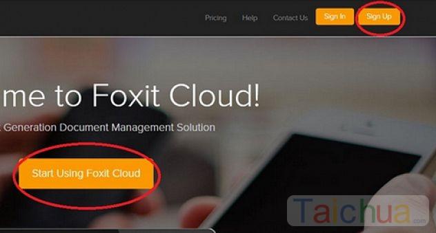 Hướng dẫn cách tạo tài khoản Foxit Cloud