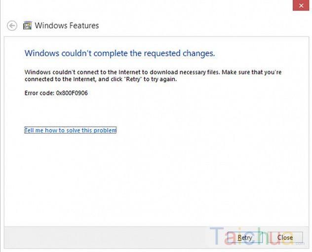 Hướng dẫn sửa lỗi không cài và bật được .NET Framework 3.5 trên Windows