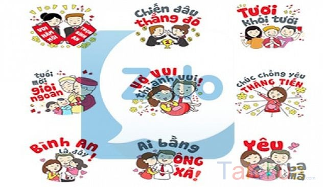 Hướng dẫn gửi tin nhắn chúc tết trên Zalo bằng Sticker