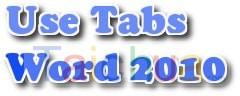 Hướng dẫn định dạng tab trong word 2010