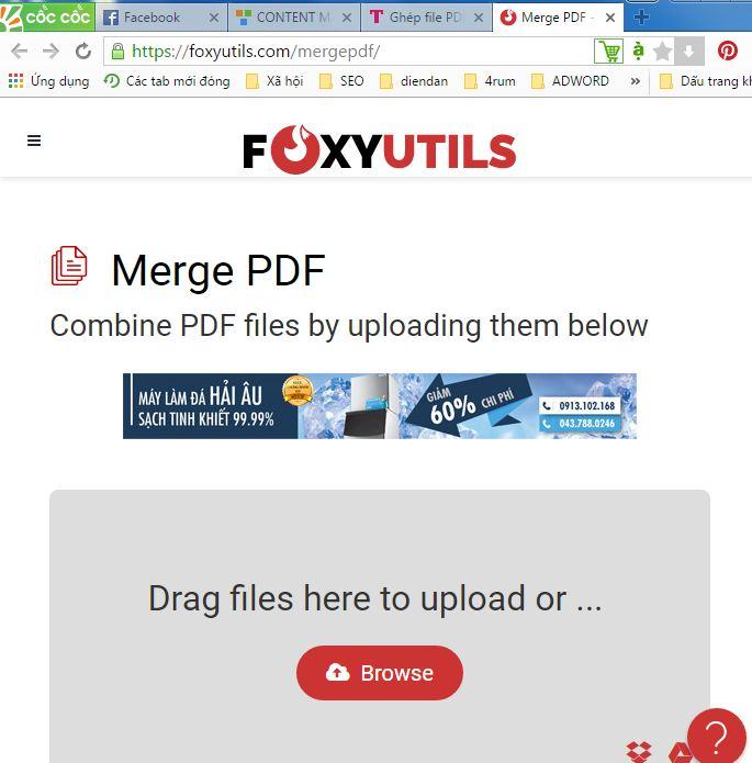 Cách ghép nhiều file pdf thành một