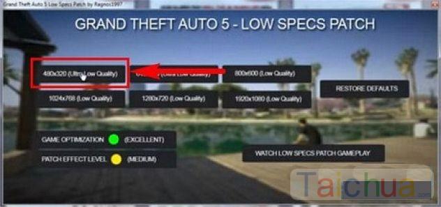 Cách chơi GTA 5 cho máy cấu hình thấp
