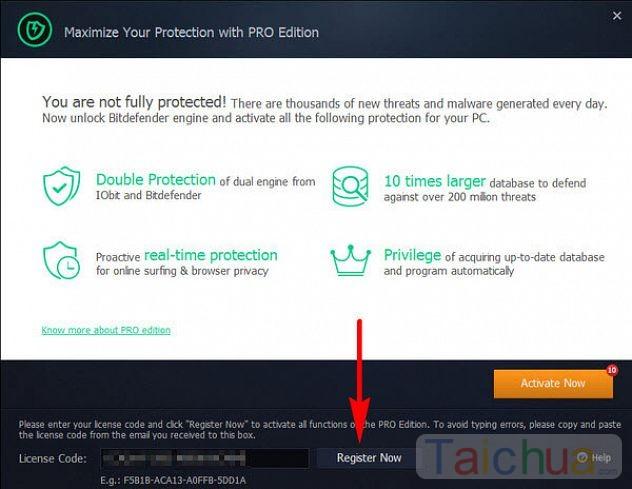 Đăng kí bản quyền IObit Malware Fighter 4 PRO