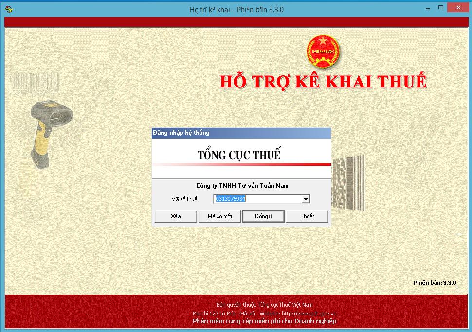 Hướng dẫn kê khai thuế qua mạng trên HTKK