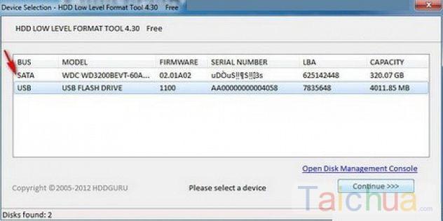 Cách Format cấp thấp ổ cứng với HDD Low Level Format Tool