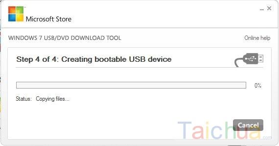 Hướng dẫn tạo bộ cài win 7 từ USB