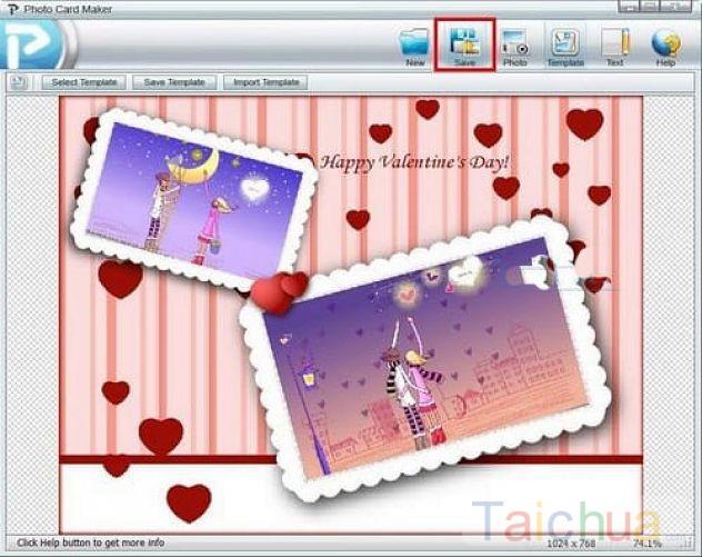 Tạo thiệp Valentine lãng mạn với Photo Card Maker