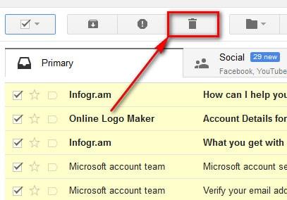 Xóa toàn bộ thư trong gmail nhanh chóng và đơn giản