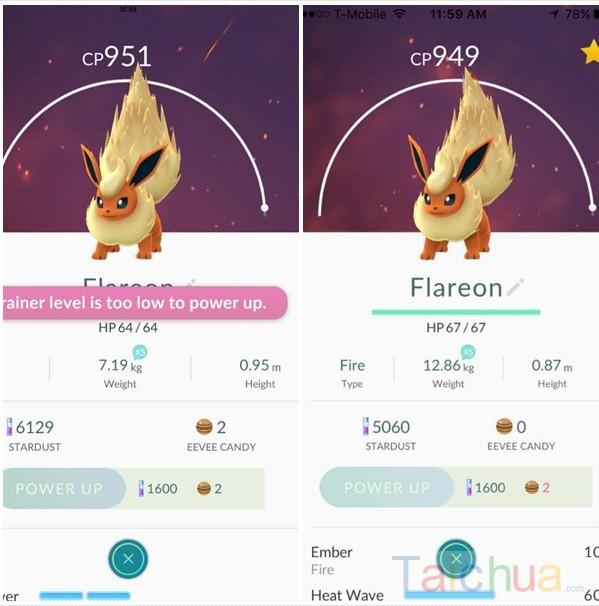 Tìm hiểu về chỉ số CP và HP trong Pokemon Go