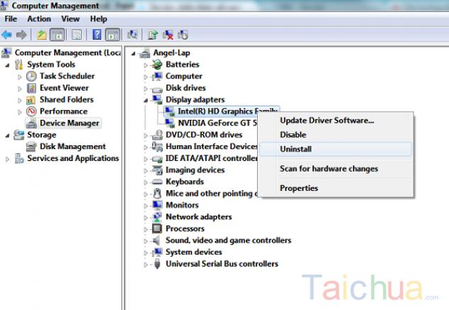 Hướng dẫn download card VGA cho Windows 7