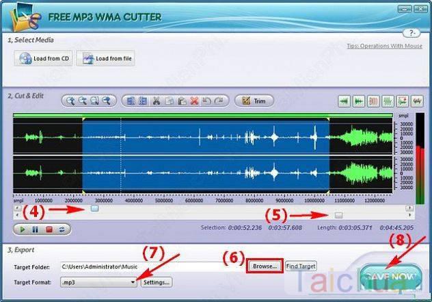 Hướng dẫn cắt nhạc bằng free mp3 cutter