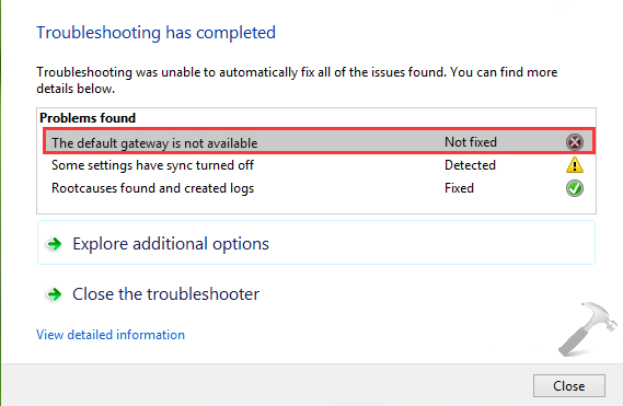 3 Mẹo giúp bạn sửa nhanh lỗi The default gateway is not available