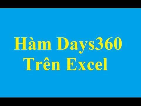 Hàm DAYS360 trong Excel