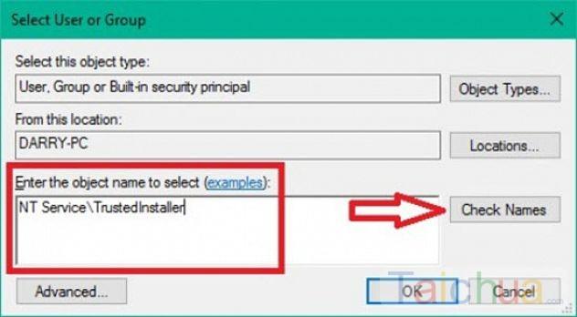 Hướng dẫn khôi phục quyền TrustedInstaller trên Windows 10