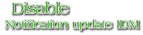 Cách tắt update idm, tắt cập nhật idm tự động trong Windows