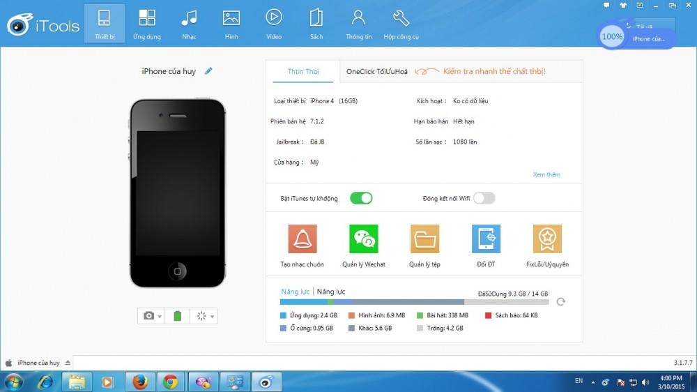 Cài đặt iTools tiếng Việt, setup itools tiếng việt trên máy tính