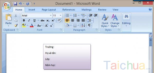 Hướng dẫn cách làm nhãn vở trên Word 2013, 2010, 2007, 2003